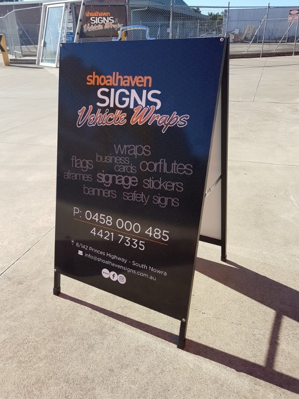Shoalhaven signs local traditional and modern signwriter servicing a frame sign reheart Image collections