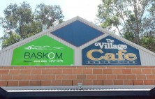 building signage baskom day spa basin view