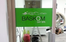 interior business signs baskom day spa