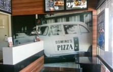 interior business signs dominos pizza