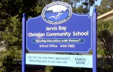 Jervis Bay Christian School Sign