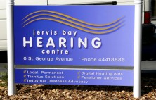 Jervis Bay Hearing Centre Sign