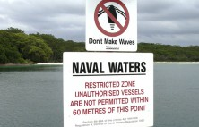 Naval Waters Danger Sign