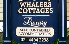 Whalers Cottage Hand Painted Sign
