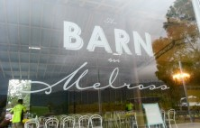 window signage barn on melross