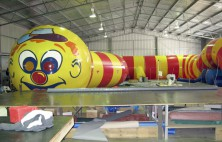 inflated worm