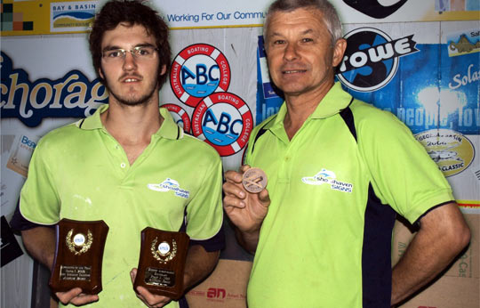 Andrew with 2009 Apprentice of the Year and 2010 Highest Achievement in Signwriting at Wollongong TAFE